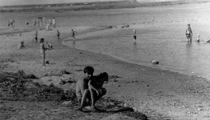 Берег річки Південний Буг у Трихатах. Кінець 50-тих років
